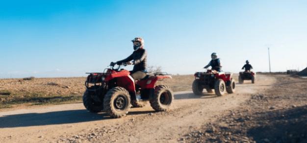 Exclusive team on quad bikes