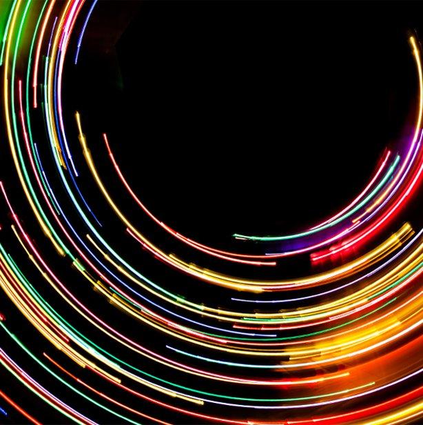 around the clock light trail spiral