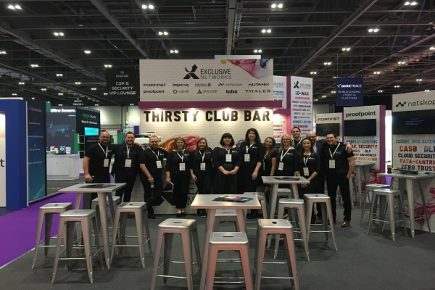 UK team at the thirsty club stand photo