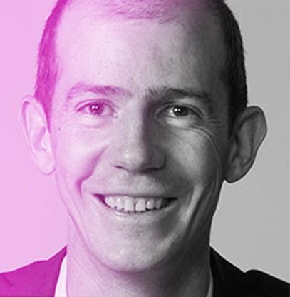 Nicolas Trombert with purple gradient